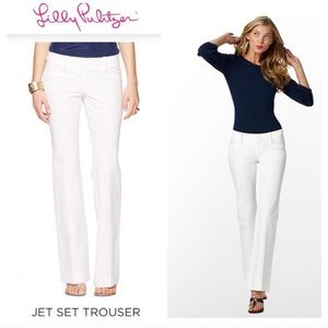 Lilly Pulitzer Resort White Jet Set Trouser